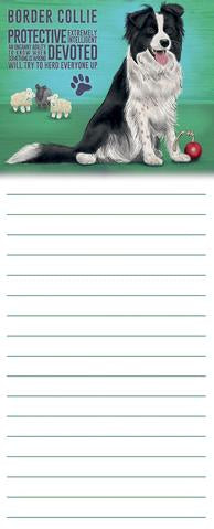 """Border Collie"" Memo Pad @ Mabel & Mu"