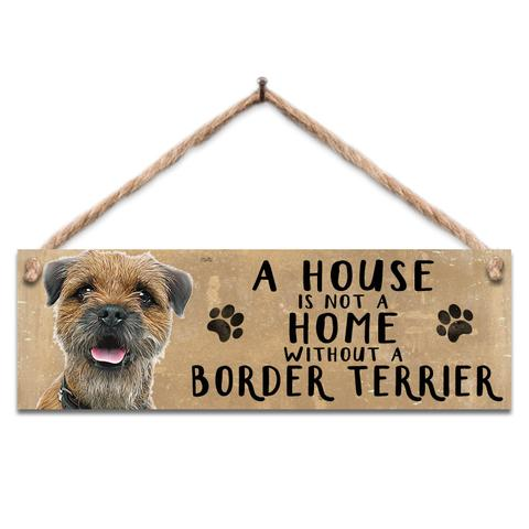 "Rustic Wooden Sign ""Border Terrier"" @ Mabel & Mu"