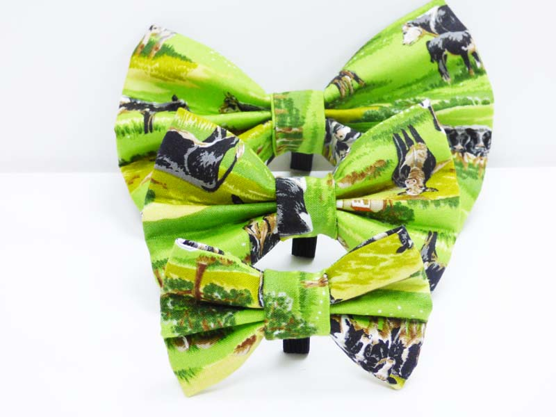 "Dog Bow Tie ""Cows in the Country"" by Mabel & Mu"