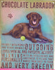Brown Labrador Metal Sign - Mabel & Mu