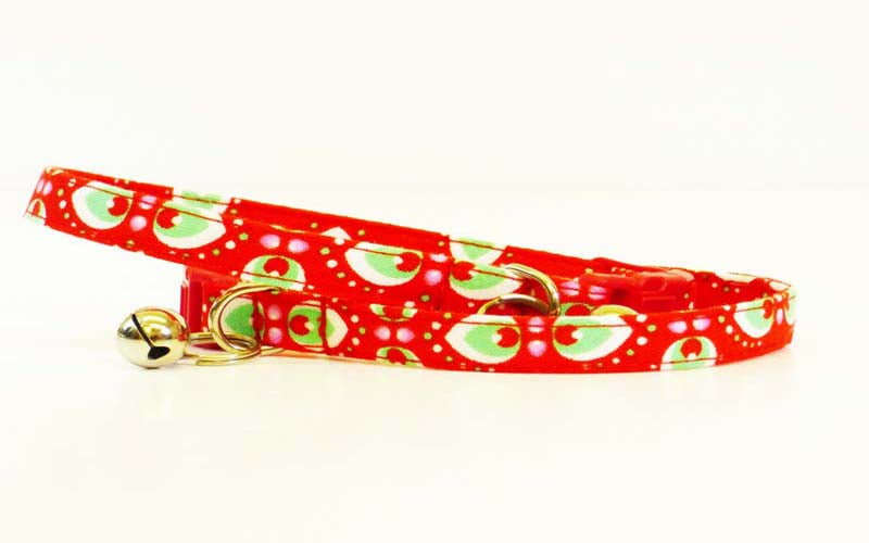 "Designer Cat Collar ""Peppermint Cream"" by Mabel & Mu"