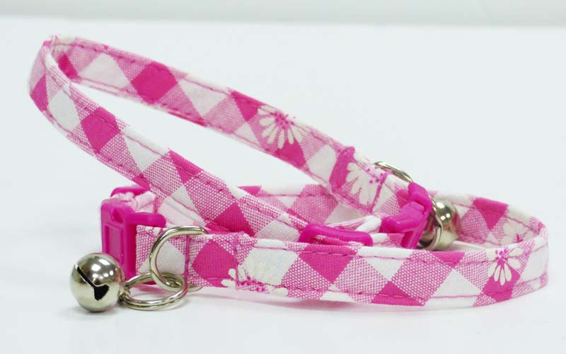 "Cat & Kitten Collar ""Daisies' - Mabel & Mu"