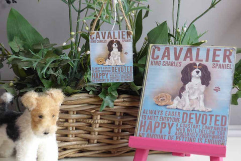 Cavalier Metal Sign - Mabel & Mu