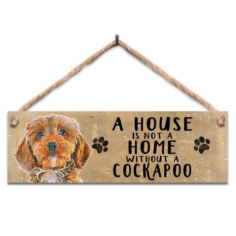 "Rustic Wooden Sign ""Cockapoo"" @ Mabel & Mu"