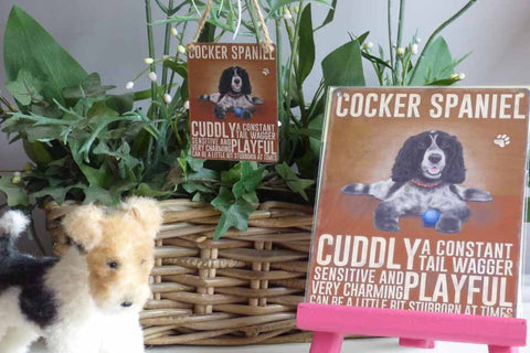 Cocker Spaniel Metal Sign - Mabel & Mu