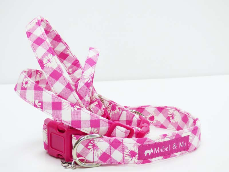 "Dog Collar Range ""Daisies"" by Mabel & Mu"