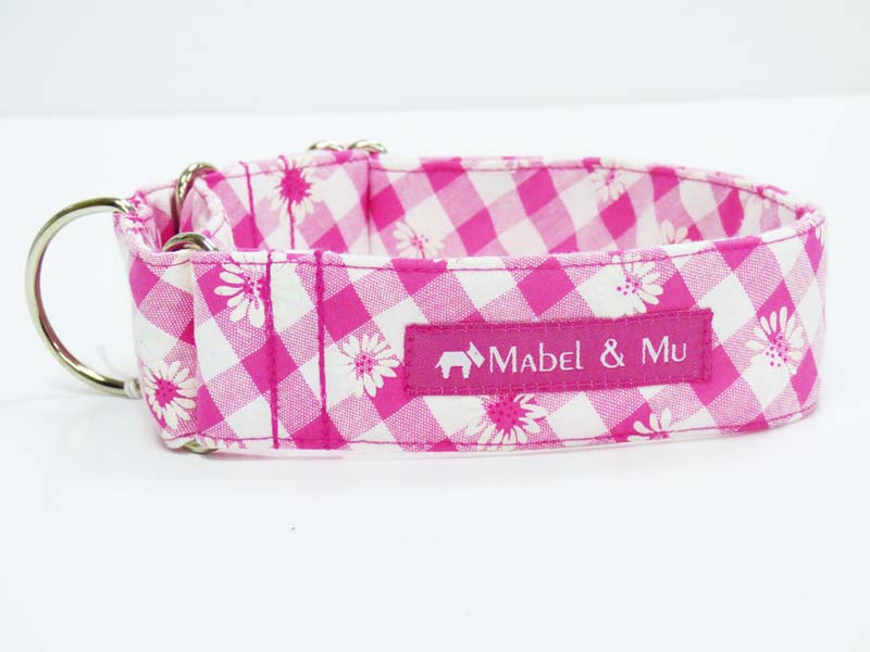 "Martingale Dog Collar ""Daisies"" Design by Mabel & Mu"