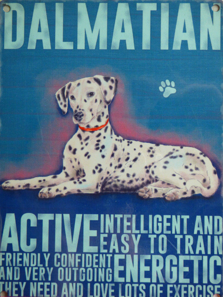 Dalmatian Metal Pet Sign - Mabel & Mu