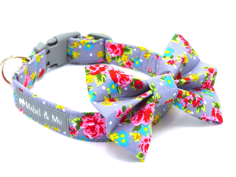 "Dog Collar Bow Tie ""Frosted Cupcake"" by Mabel & Mu"