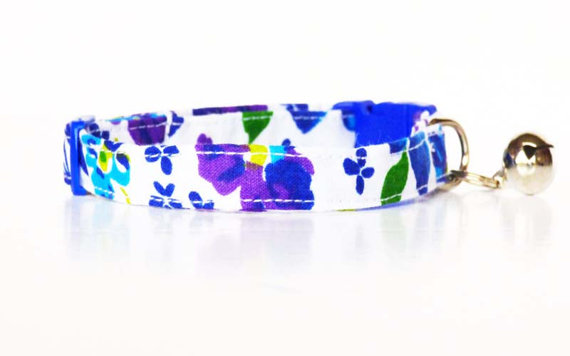 "Designer Cat & Kitten Collar ""Gardenia"" by Mabel & Mu"
