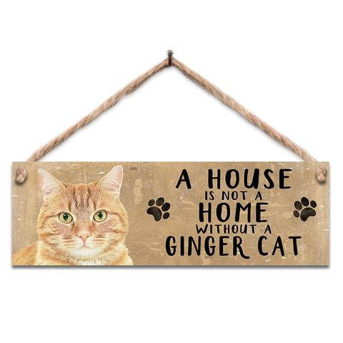 "Rustic Wooden Sign ""Ginger Cat"" @ Mabel & Mu"
