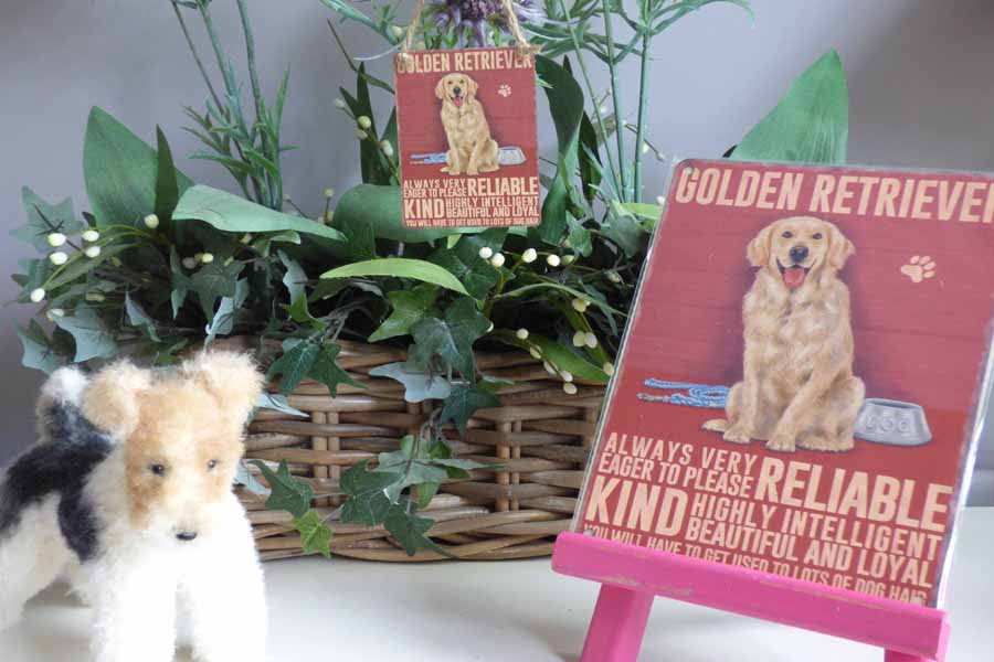 Golden Retriever Metal Sign - Mabel & Mu
