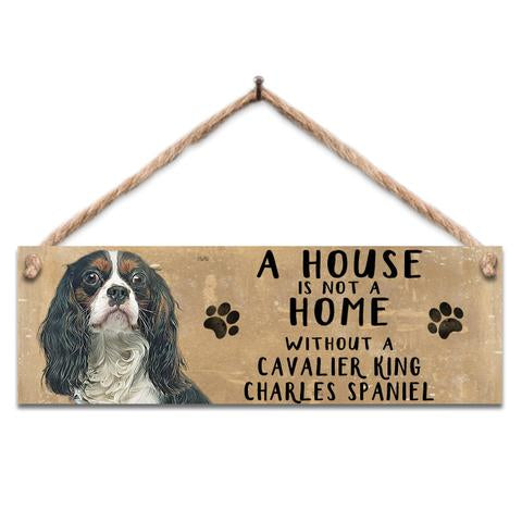 "Rustic Wooden Sign ""King Charles"" @ Mabel & Mu"