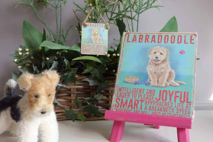 Labradoodle Metal Pet Sign - Mabel & Mu