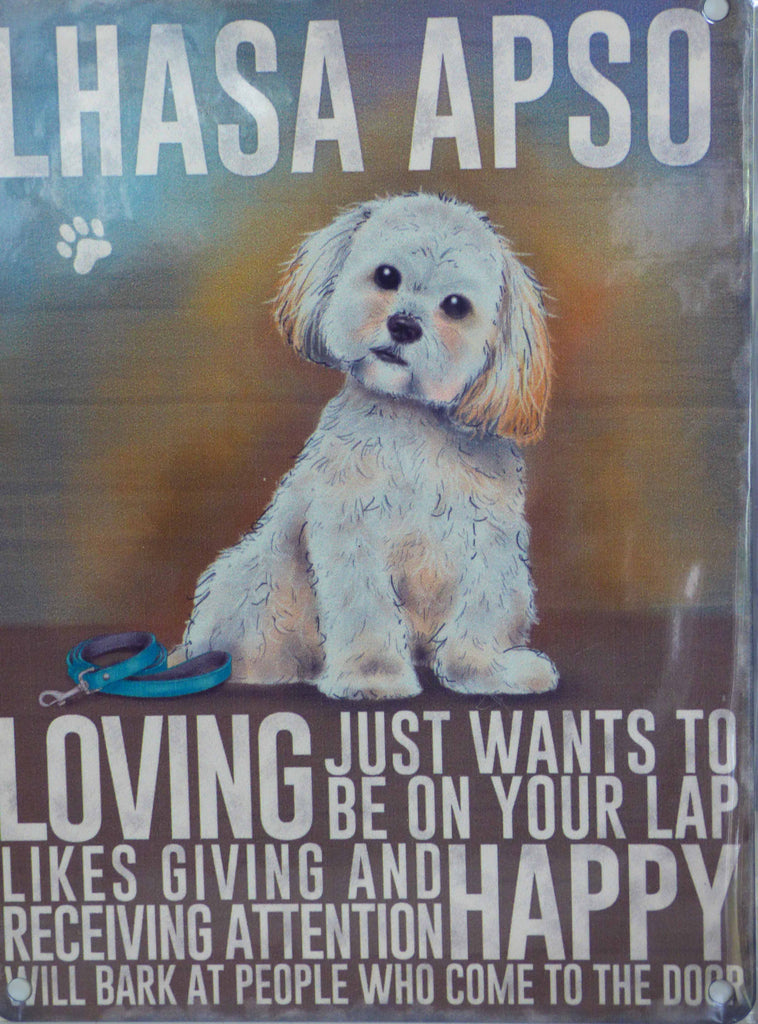 Lhasa Apso Metal Sign - Mabel & Mu