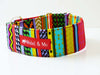 "Martingale Dog Collar ""Rainbow Red"" by Mabel & Mu"