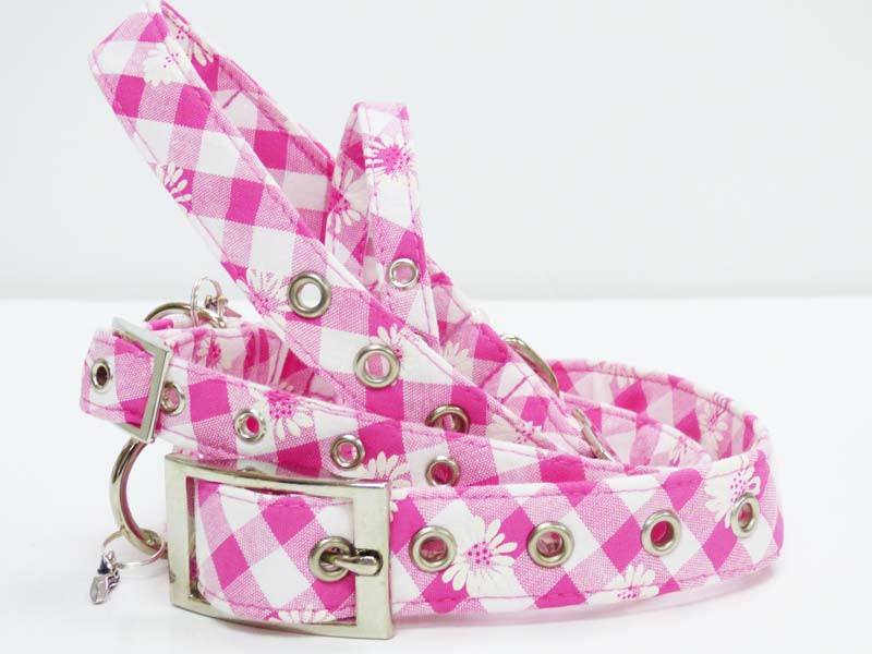 "Metal Buckle Dog Collar Range ""Daisies"" by Mabel & Mu"