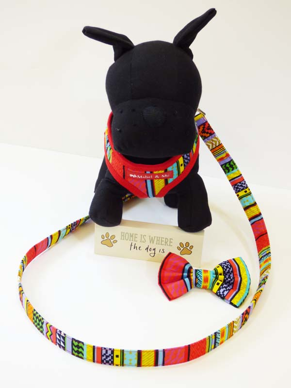 "Dog Harness  ""Rainbow Red"" by Mabel & Mu"
