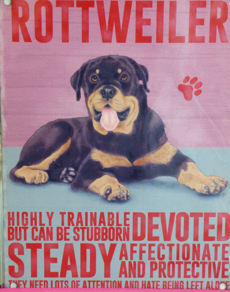 Rottweiler Metal Sign - Mabel & Mu