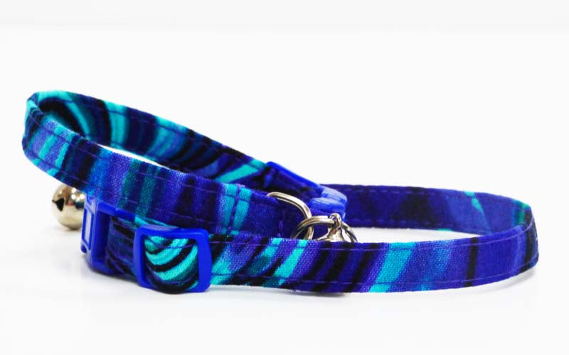 "Designer Cat Collar ""Seascape"" by Mabel & Mu"