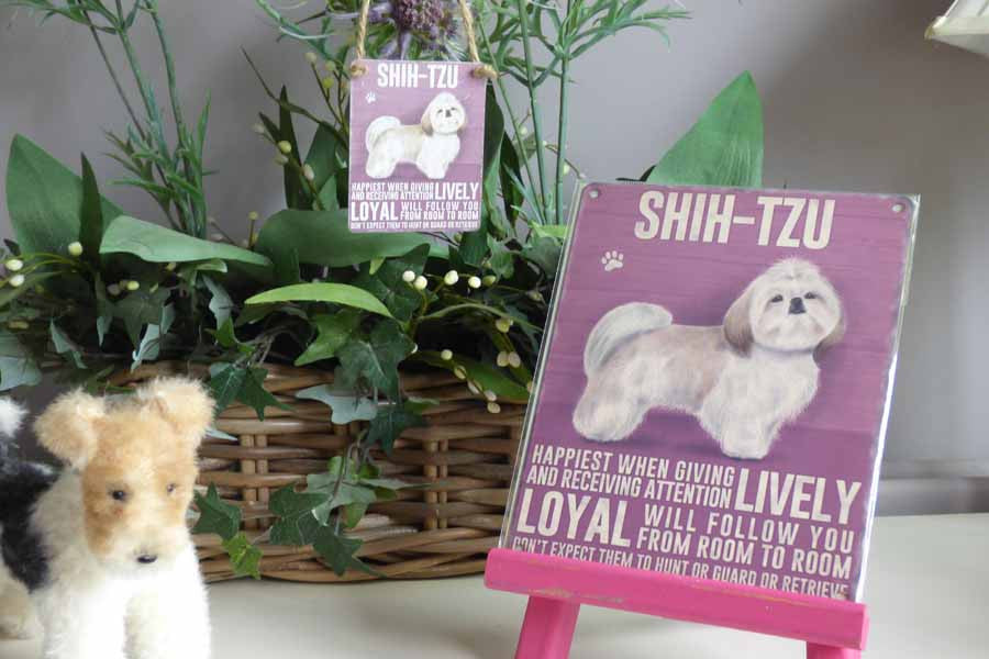 Shih-Tzu Metal Pet Sign - Mabel & Mu