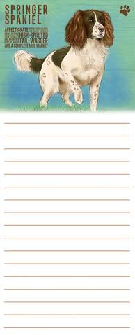 "Memo / Shopping List Pad ""Springer"""
