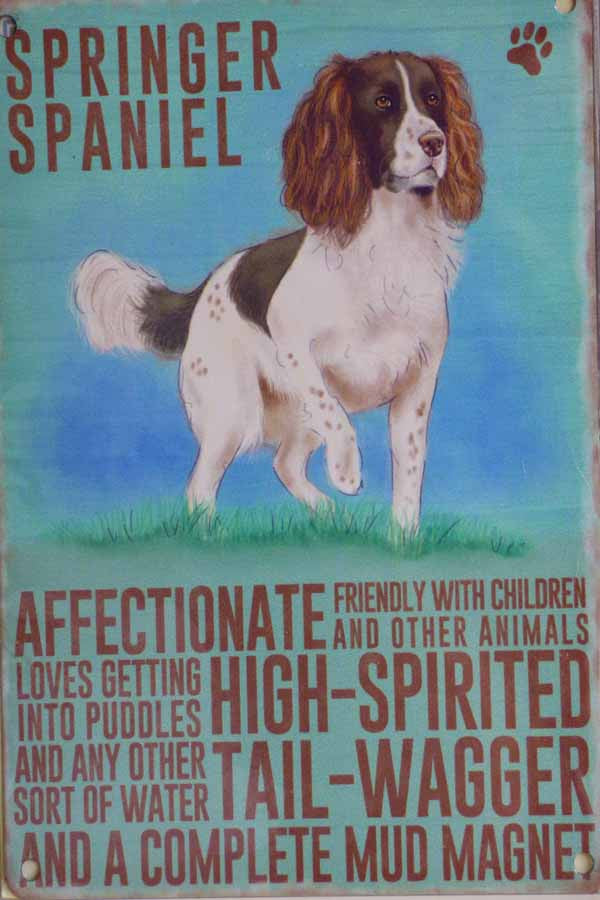 Springer Spaniel Metal Pet Sign - Mabel & Mu