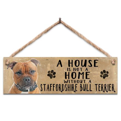"Rustic Wooden Sign ""Staffy"" @ Mabel & Mu"