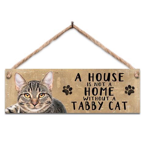 "Rustic Wooden Sign ""Tabby Cat"" @ Mabel & Mu"