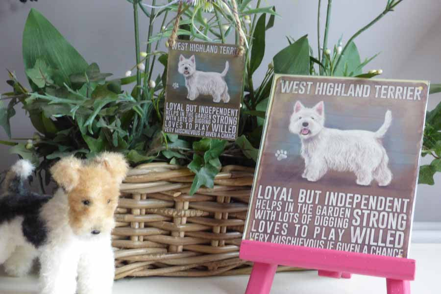 West Highland Terrier Metal Pet Sign - Mabel & Mu