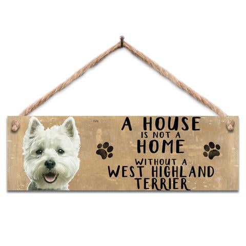 "Rustic Wooden Sign ""Westie"" @ Mabel & Mu"
