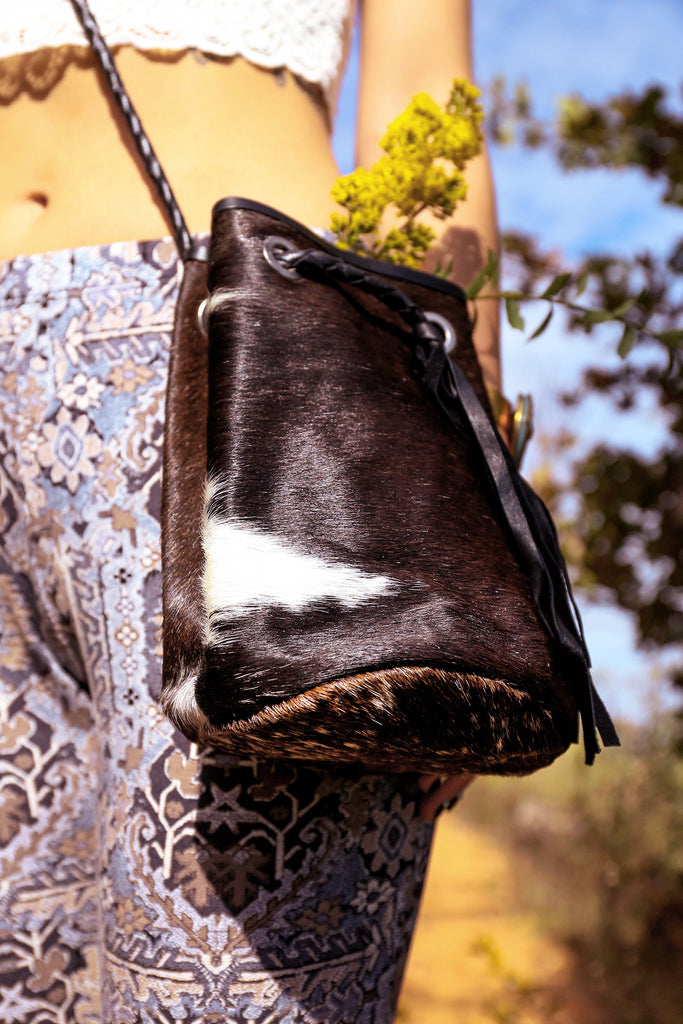 Cow Hide Crossbody Pouch