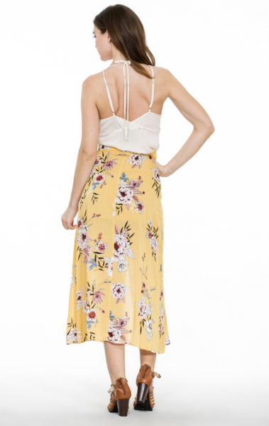 Mellow Yellow Floral Skirt