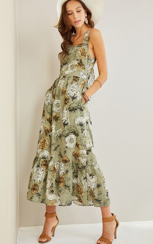 Dancing Dandelion Maxi Dress