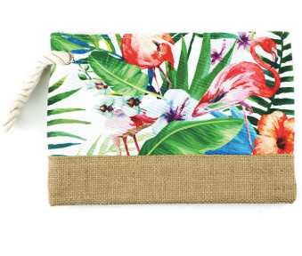 Tropical Flamingo Pouch