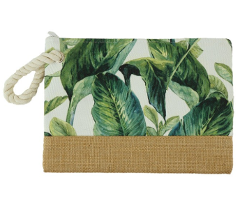 Tropical Leaves Pouch