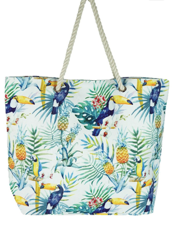 Tropical Pineapple Beach Bag