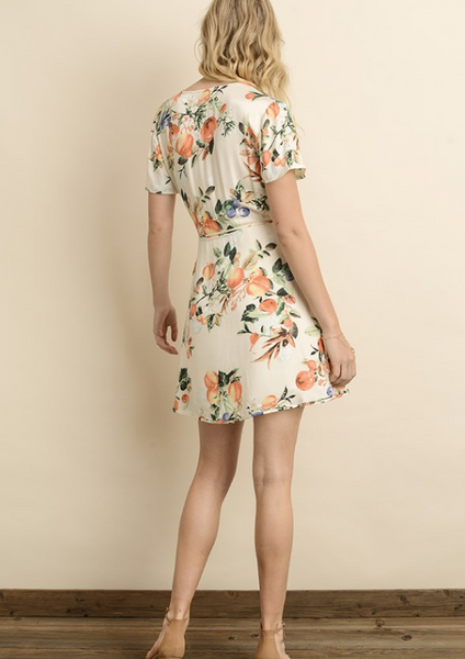 Peach Tree Wrap Dress