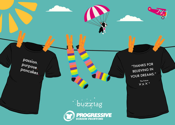 Progressive Screen Printing Buzztag
