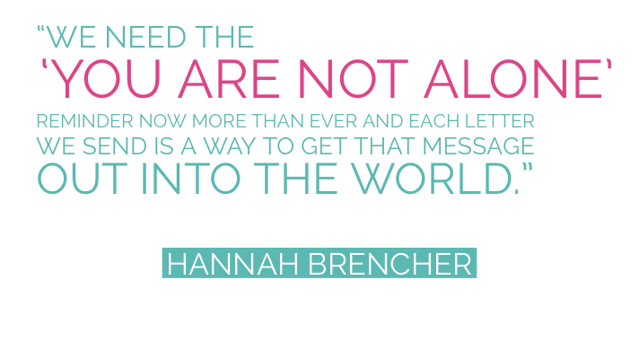 buzztag more love letters hanah brencher you are not alone inspiration