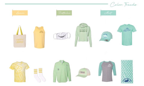 buzztag promotional product color trends summer 2020