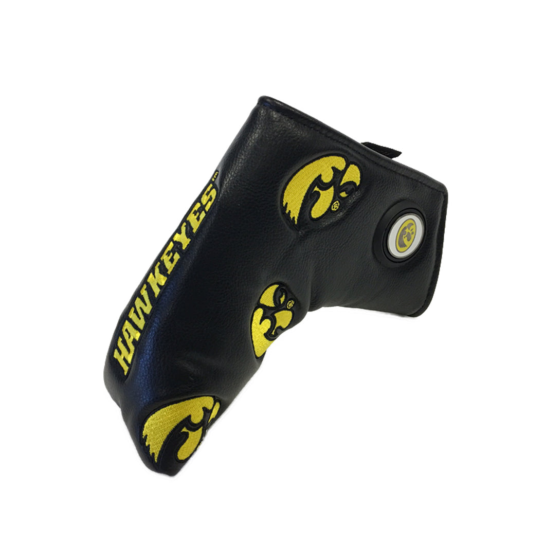 owa Hawkeyes Dancing Blade Putter Cover with ball marker