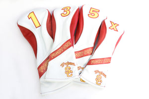 USC Heritage Leather Head Cover - White