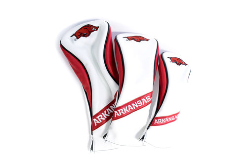 University of Arkansas Razorbacks Heritage Wood Covers (White)
