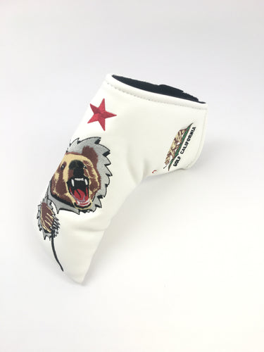 Cali Bear Blade Putter Cover (White)