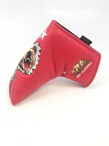 Cali Bear Blade Putter Cover (Red)