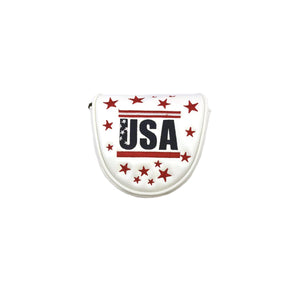 USA Eagle Mallet Putter Cover (white)