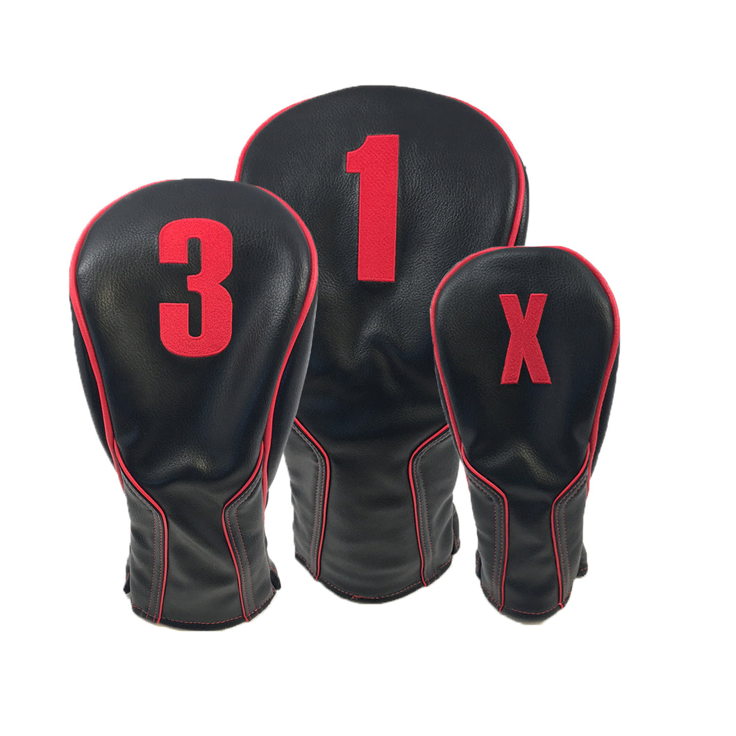 PRG Apollo Headcovers (Black/Red)
