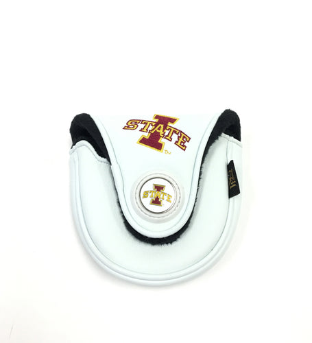 Iowa State Univeristy mallet putter cover (White or Black)