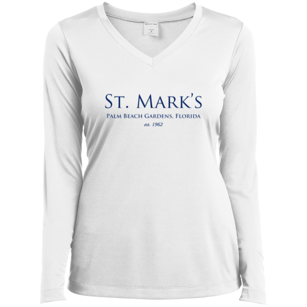 Ladies Long Sleeve Performance Vneck Tee - T-Shirts - 1